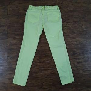 BONGO Bottoms - Bongo Skinny Jeans Studs Neon Green Chartreuse